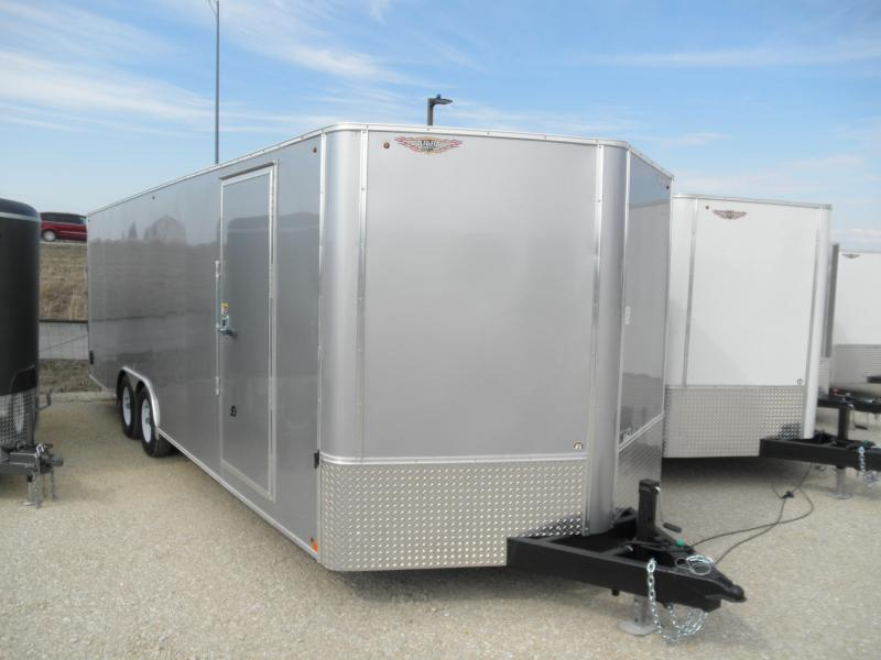 2020 H&H 24' 10K Enclosed Cargo/Car Hauler Trailer