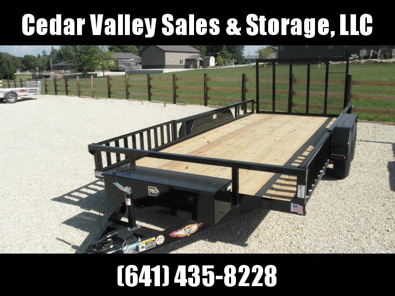 2020 H&H 82x16 ATV trailer w/toolbox 7K