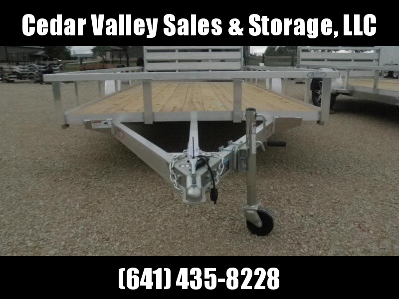 2022 H and H Trailer 82x14 Aluminum Rail Side Utility Trailer 3K Idler (H8214RSA-030) Utility Trailer