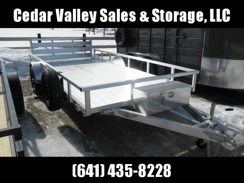 2021 H&H 82x14 Aluminum Rail Side Utility Trailer with Extruded Deck and More