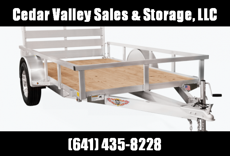 2021 H and H Trailer 82x14 Aluminum Rail Side Utility Trailer with Extruded Deck and More