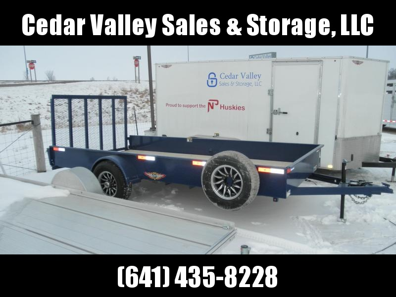 2021 H&H 82x14 Solid Side Utility Trailer 5K AXLE W/Brake