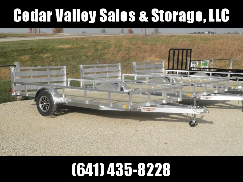 2021 H&H 82x14 Aluminum Rail Side Utility Trailer