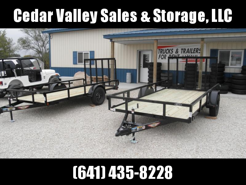 2021 H&H 76x12 Rail Side Utility Trailer