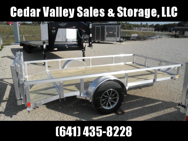 2021 H&H 76x10+2 Dovetail Aluminum Rail Side Utility Trailer 3K Idler (H7612RSAD-030)
