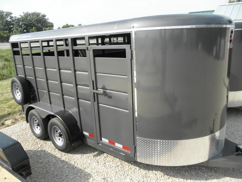 "2021 S&S Manufacturing 6'8"" X 16' Livestock Trailer 12k"