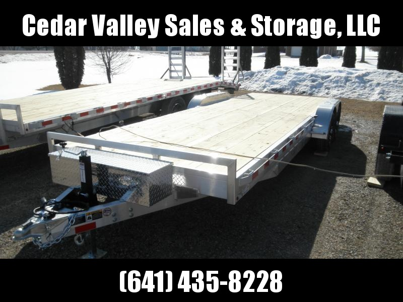 2021 H&H Trailer 82x20+2 Aluminum Car Hauler Trailer 10K (H8222HDAD-100) Car / Racing Trailer