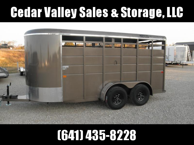 2022 S&S Manufacturing 16' Livestock Trailer