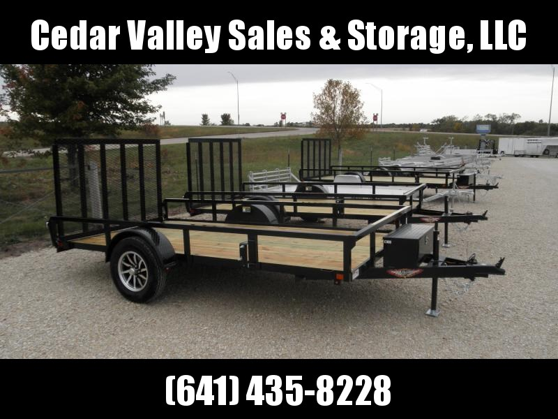 2021 H&H 76x12 Rail Side Utility Trailer with toolbox and Aluminum Rims!