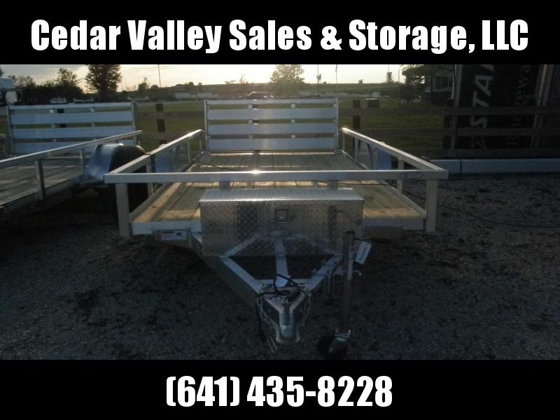 2022 H&H 76x12 Aluminum Rail Side Utility Trailer (H7612RSA-030) with Toolbox  and Spare