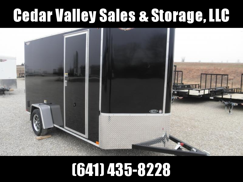 """2021 H&H 6x12 Enclosed Cargo Trailer with 78"""" walls"""