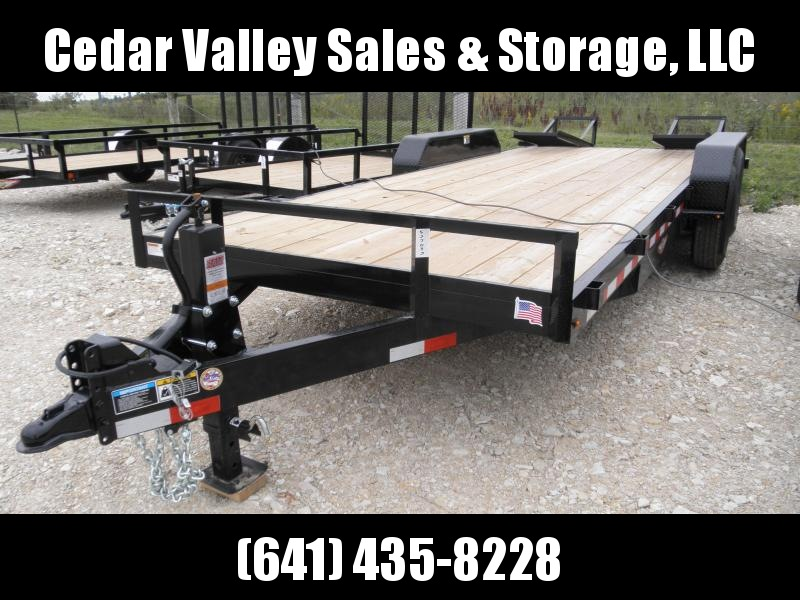 "2020 H&H 82"" x 20' 14K Flatbed Equipment Trailer"