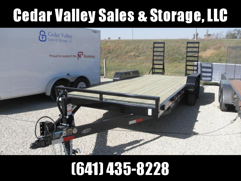"2021 H&H 82"" x 20' 14K Flatbed Equipment Trailer"