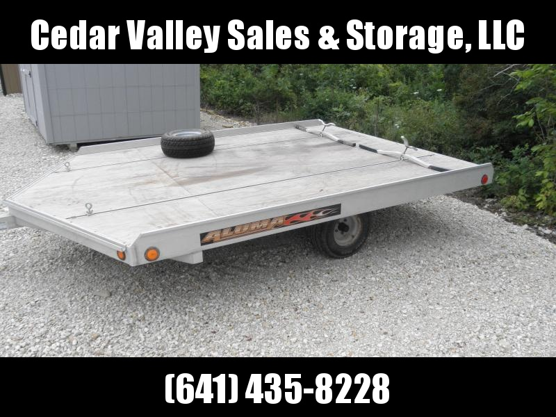 2009 Aluma 8610D Snowmobile Trailer Drive on/off 2 sleds