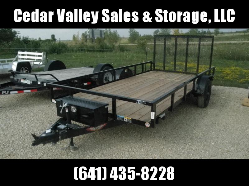 2021 H&H 82x14 Rail Side Utility Trailer 5K with toolbox