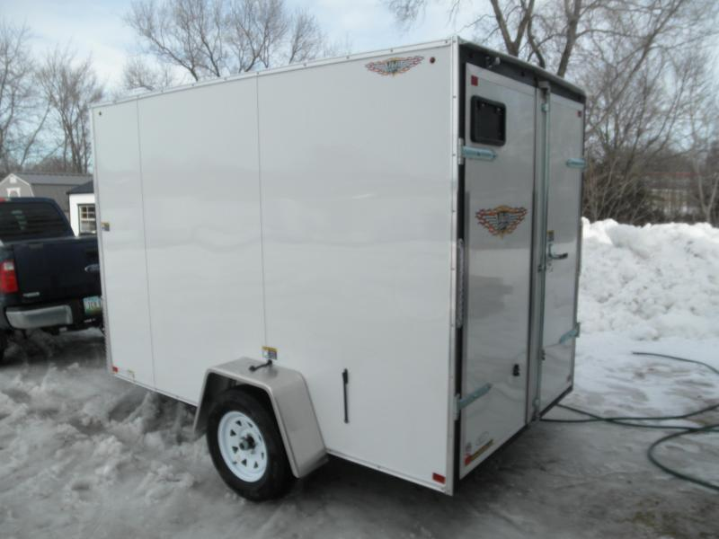 """2020 H & H Trailers 72"""" x 10' V-Nose Single Axle Flat top Cargo Trailer"""