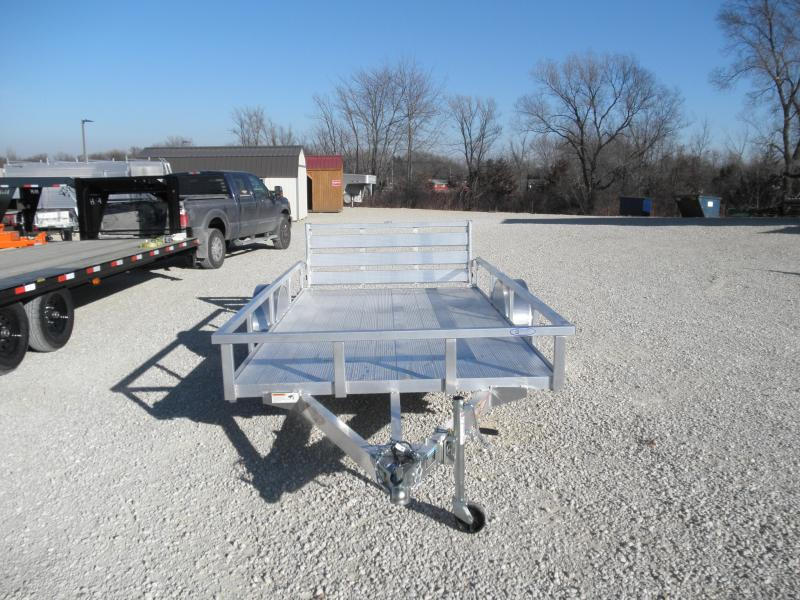 2021 H&H 76X12 Aluminum Rail Side Utility Trailer with Extruded Deck