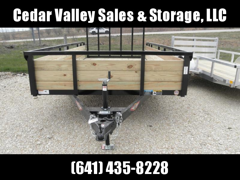 2021 H and H Trailer 82x14 Wood Side Utility Trailer 5K Brake