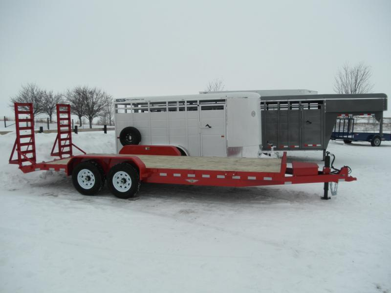 2021 H&H  82x18+2 Industrial Equipment Trailer 14K (H8220IL-140) Red Powdercoat