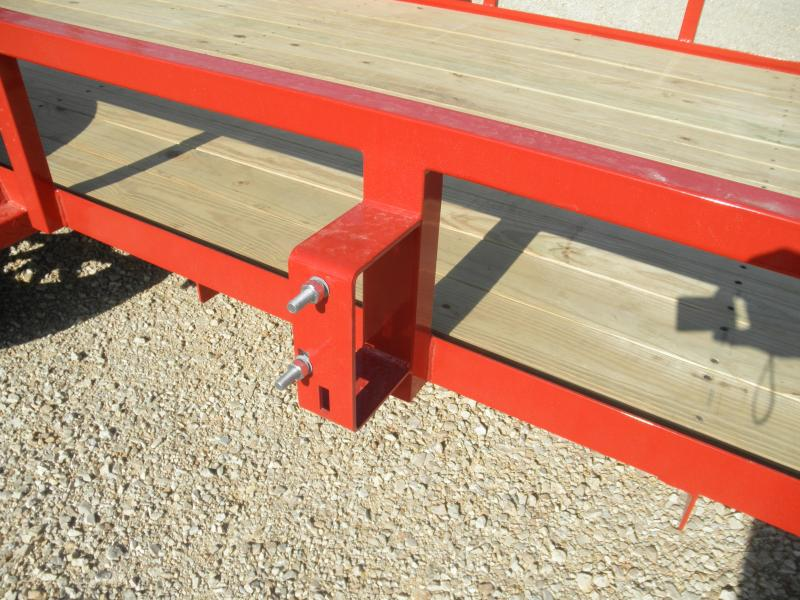 2021 H&H 76x12 Rail Side Utility Trailer 3K RED POWDERCOAT ALUMINUM RIMS