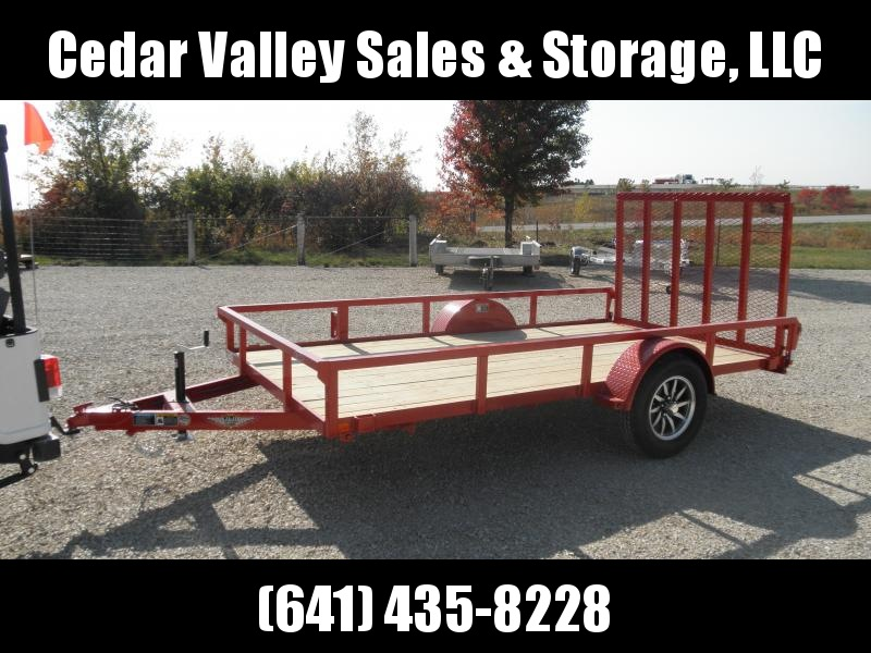 2021 H&H 76x12 Rail Side Utility Trailer 3K RED POWDERCOAT ALUMINUM RIMS