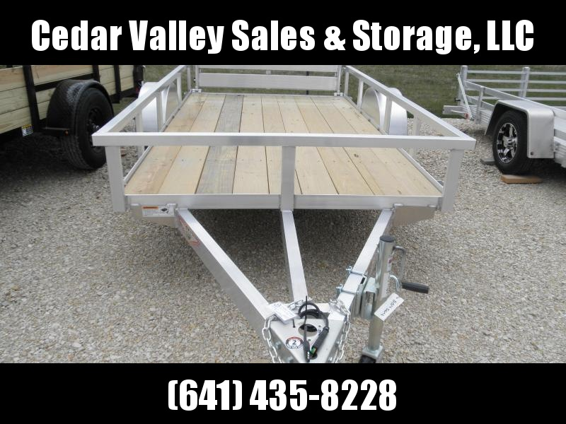 2021 H and H Trailer 66x10 Aluminum Rail Side Utility Trailer 3K Idler (H6610RSA-030) Utility Trailer