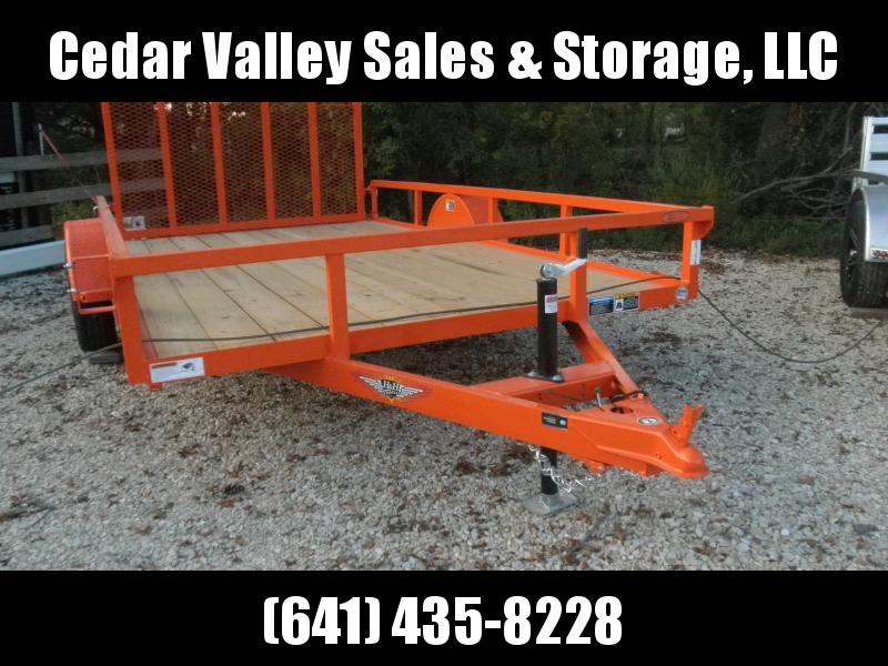 2022 H&H Trailer Orange 82x12 Rail Side Utility Trailer 3K Idler U