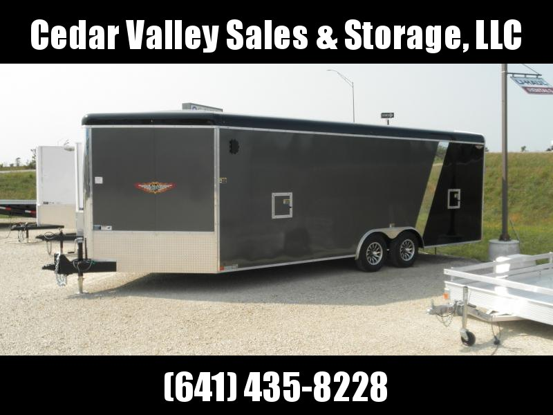 2021 H&H Trailer 101x22 Combo Series Sled Car Hauler Enclosed Trailer 10K (H10122COSN-100) Snowmobile Trailer