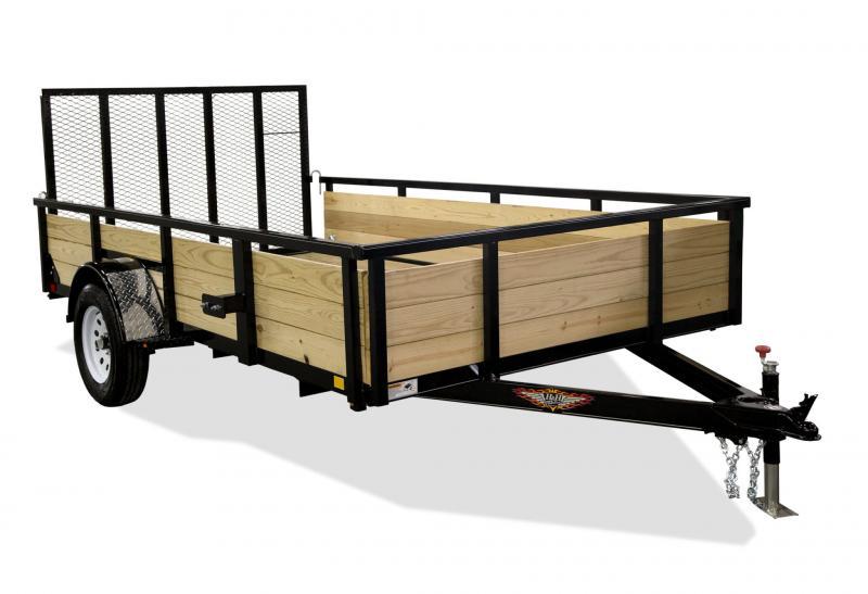 "2020 H&H 82"" X 14' Wood Side 5K Utility Trailer"