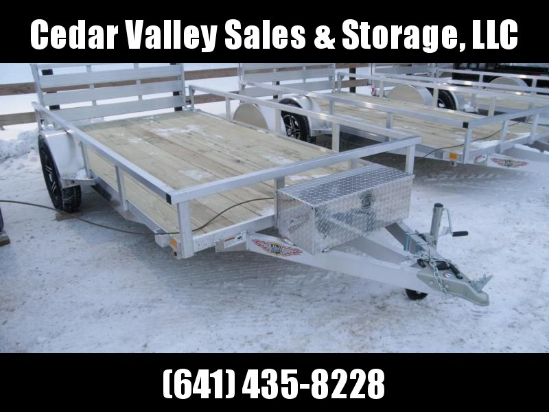 2021 H&H 76x12 Aluminum Rail Side Utility Trailer (H7612RSA-030) with Toolbox