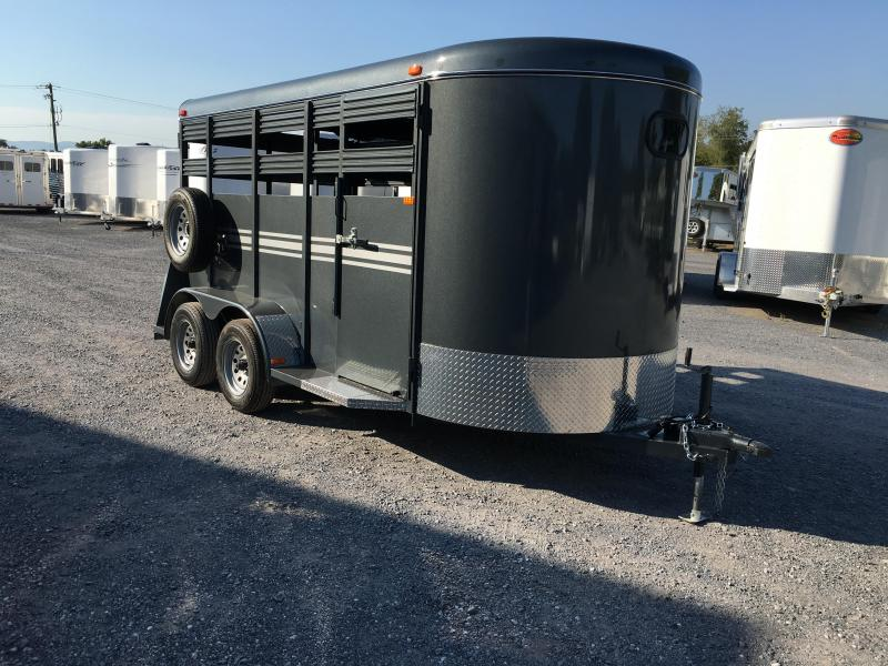 2020 K and K Trailers 14' K&K Stock Livestock Trailer