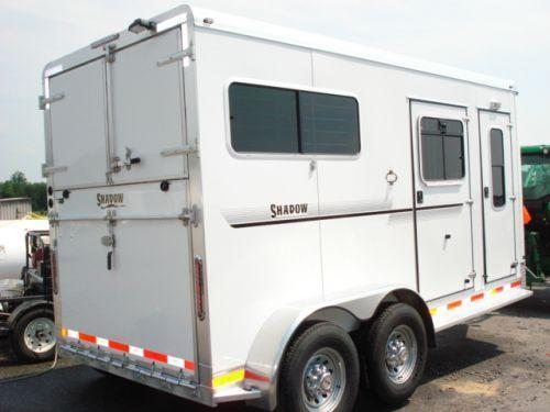 2009 Shadow Trailers 2H Straight w/Dress Horse Trailer