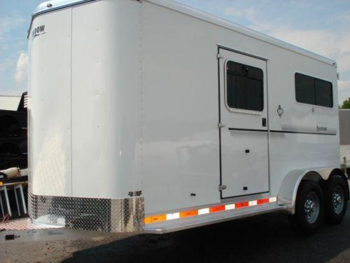 Clearance 2009 Shadow Trailers 2H Straight w/Dress Horse Trailer