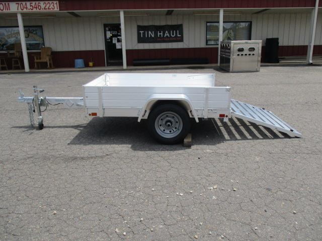"2021 Aluma 486 12"" Solid Side Rack Set Utility Trailer"