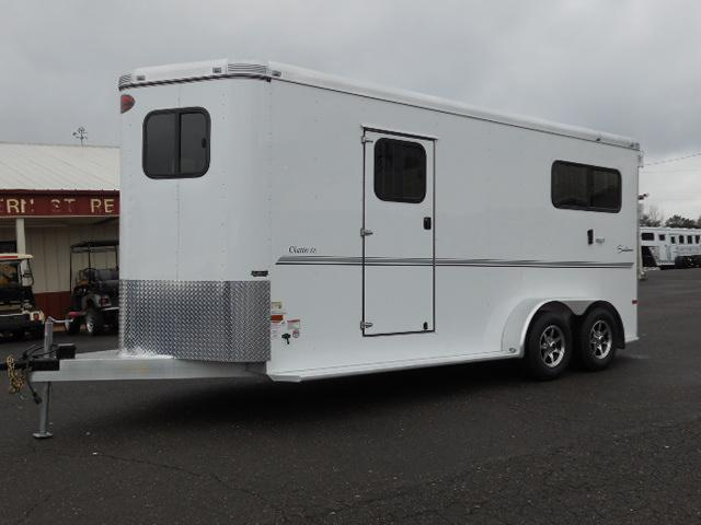 2015 Sundowner Trailers 2H Rear Ramp; Side Ramps Horse Trailer