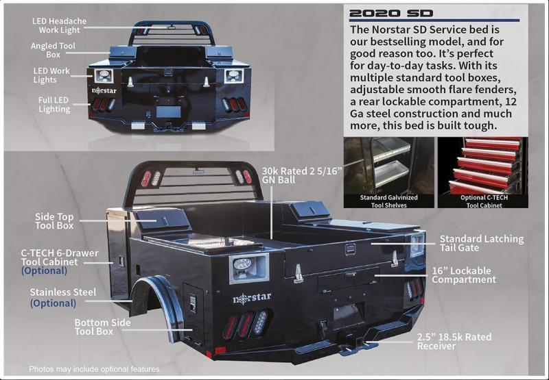 2018 Norstar SD Truck Bed  Fits:  Ford 17-C/Ram 03-C SRW LWB