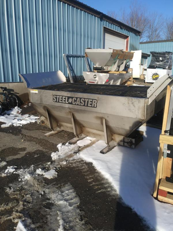 2019 Fisher Engineering 9' SteelCaster FleetFlex w/ Spill Guards Salt Spreader