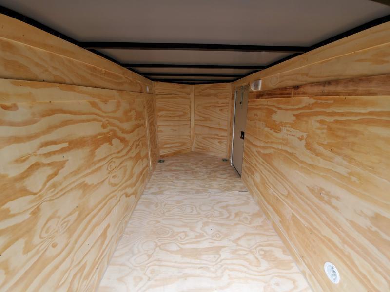 2021 Anvil 5x10 V-Nose Enclosed Trailer Ramp Door Charcoal