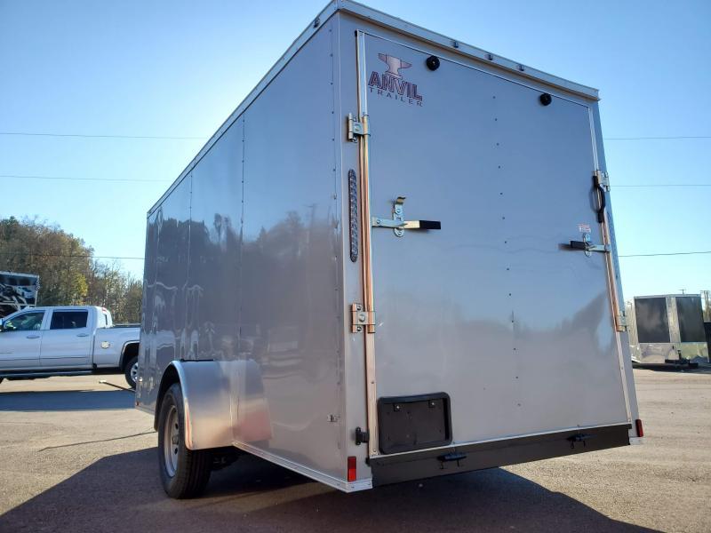 2021 Anvil 6x14 V-Nose Enclosed Trailer Ramp Door Silver