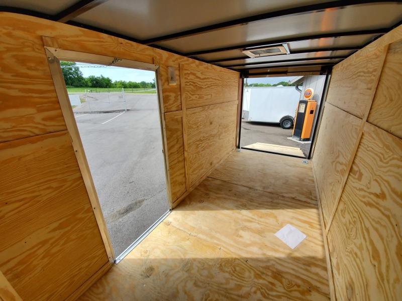 2021 Anvil 6x14 V-Nose Enclosed Trailer Ramp Door Charcoal Deluxe