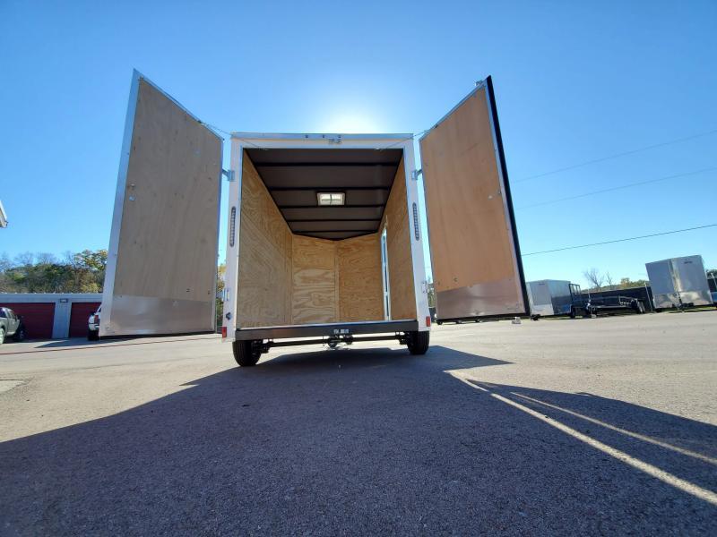 2021 Anvil 6x10 V-Nose Enclosed Trailer Swing Door White