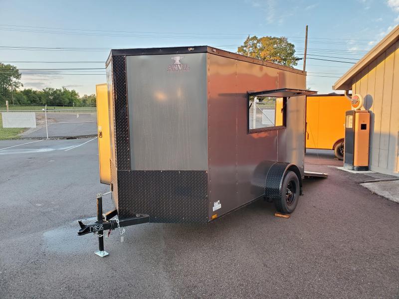 Custom Hunting Blind - 2021 Anvil 6x10 V-Nose Enclosed Trailer Ramp Door