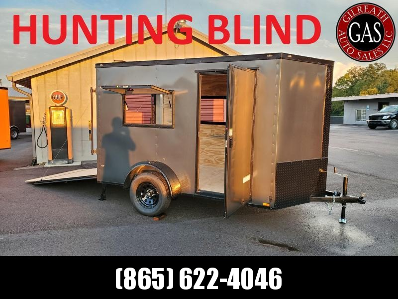 Custom Hunting Blind - 2021 Anvil 6x10 V-Nose Enclosed Trailer Ramp Door