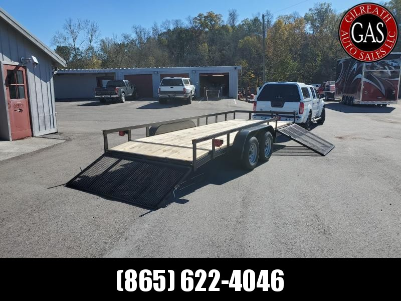"2021 Rogers Trailers 6'6"" x 18' Dovetail Side Gate Utility Trailer"