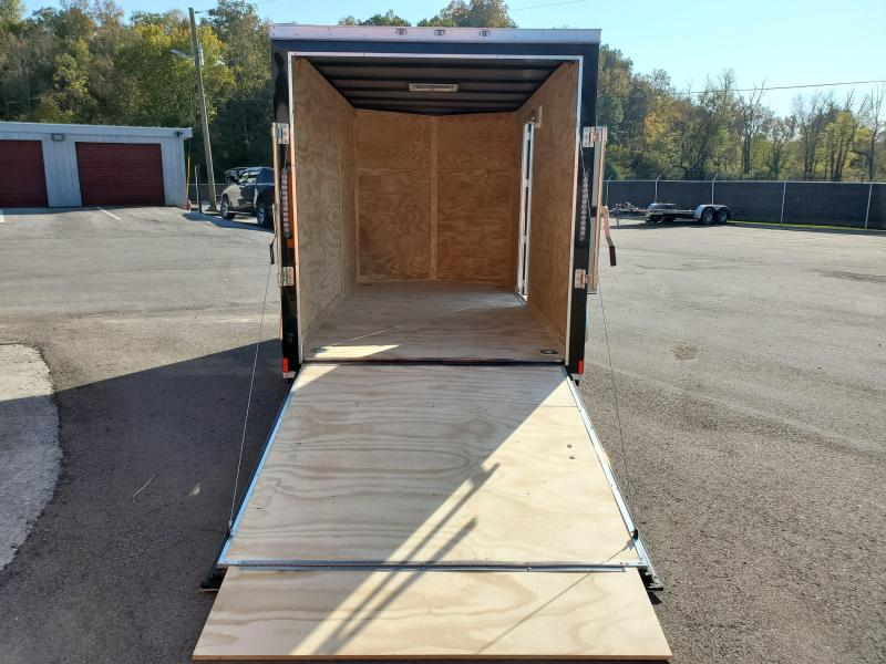 2021 Anvil 6x12 V-Nose Enclosed Trailer Ramp Door