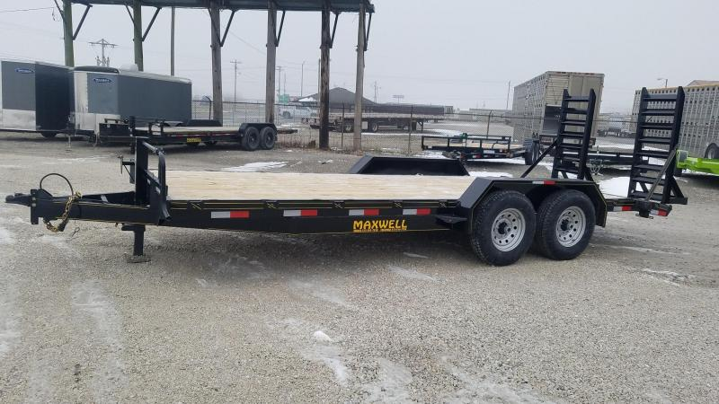 2021 Maxwell Ta Skid Steer Equipment Flatbed Trailer