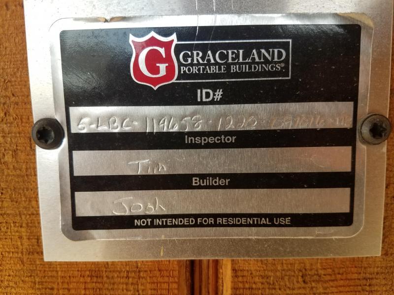 2016 Graceland Portable Buildings 12'X20' Cabin