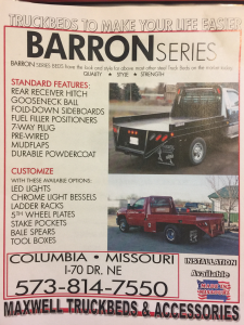 2021 Maxwell Barron Truck Bed*CALL FOR PRICING
