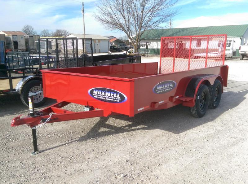 2021 Maxwell Tandem Solid Side Utility Trailer*