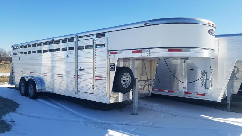2021 W-W Trailer 7 x 24 All Aluminum Livestock Livestock Trailer**